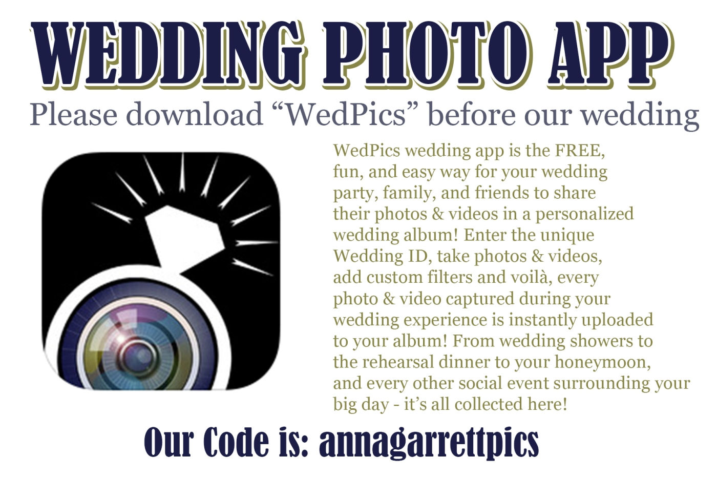 Wedding App For Your Phones Anna Garrett Plus 1